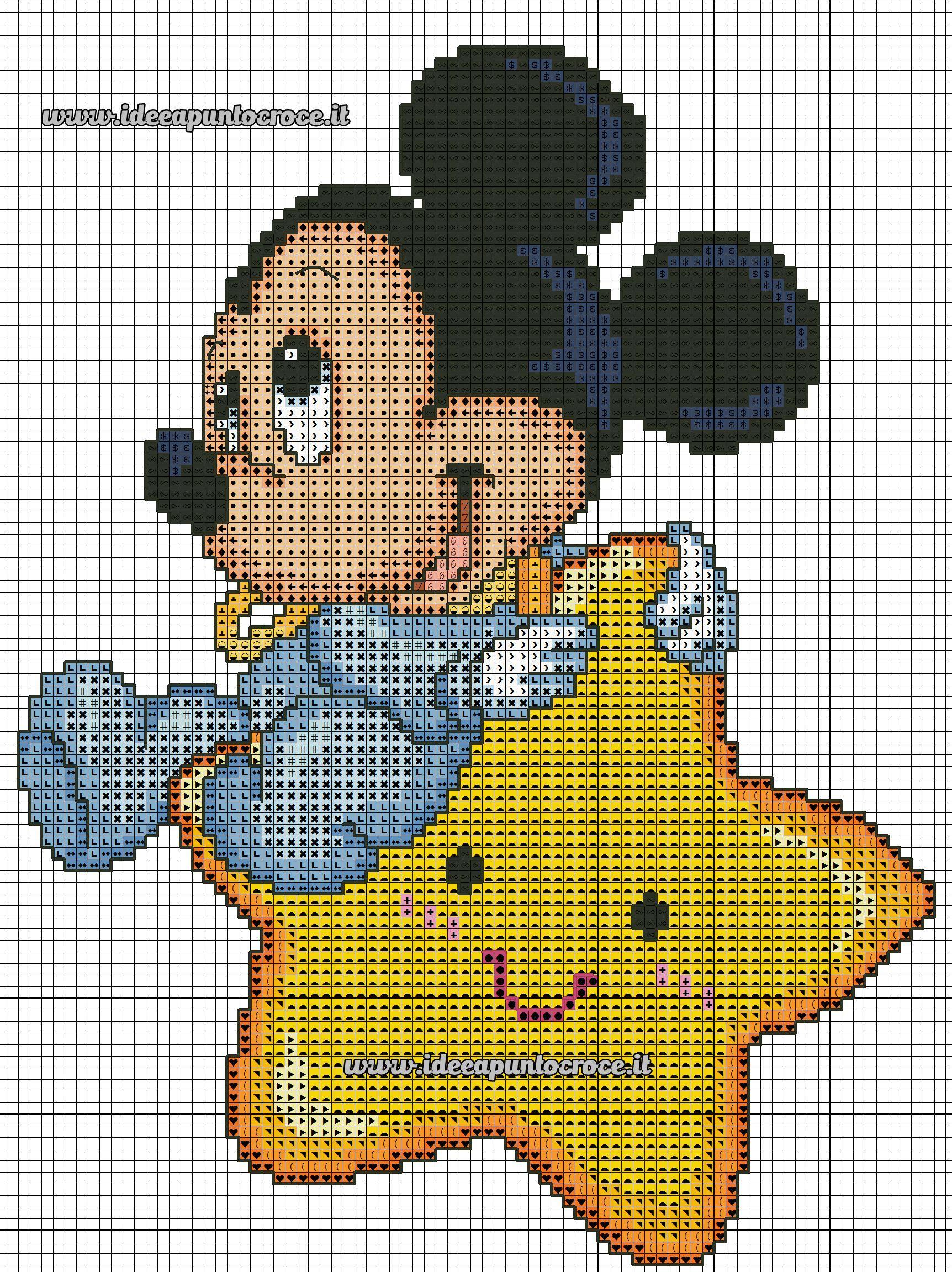 Schema Baby Topolino Punto Croce Cucito Pinterest Punto Croce