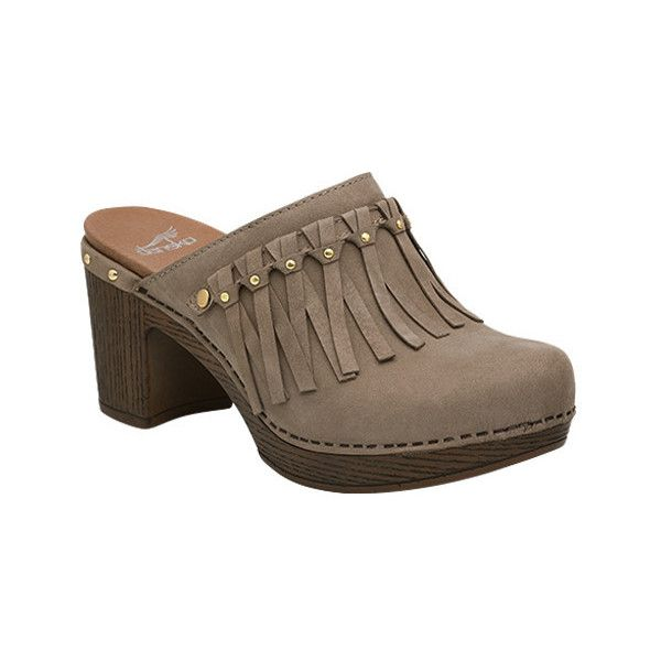 Women's Dansko Deni Fringed Clog ($60) ❤ liked on Polyvore featuring shoes,  clogs