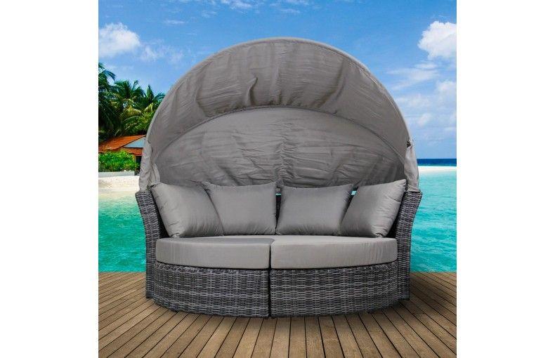 Salon de jardin avec auvent | Salon de jardin | Outdoor furniture ...