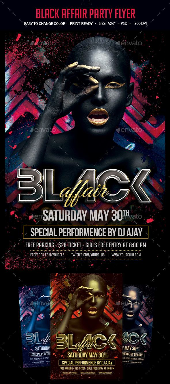 Black Affair Party Flyer Party flyer, Flyer template and Template - zombie flyer template