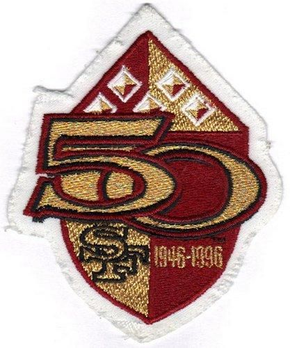bdc4027ff Stitched 1996 San Francisco 49ers 50th Anniversary Season Jersey Patch
