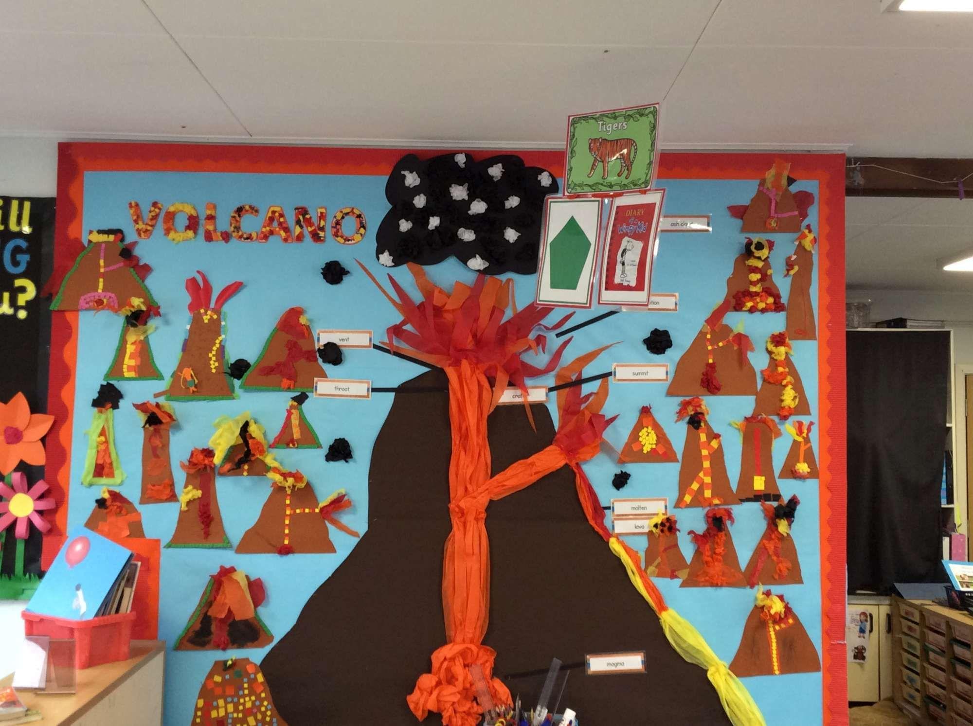 Year 3 Volcanoes Classroom Display Geography Mar 16