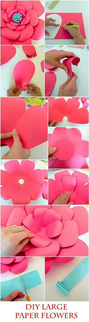 Handmade flower tutorials 37 inspiring flower projects craft diy giant paper flower templates tutorial diy paper flower making kit svg paper mightylinksfo