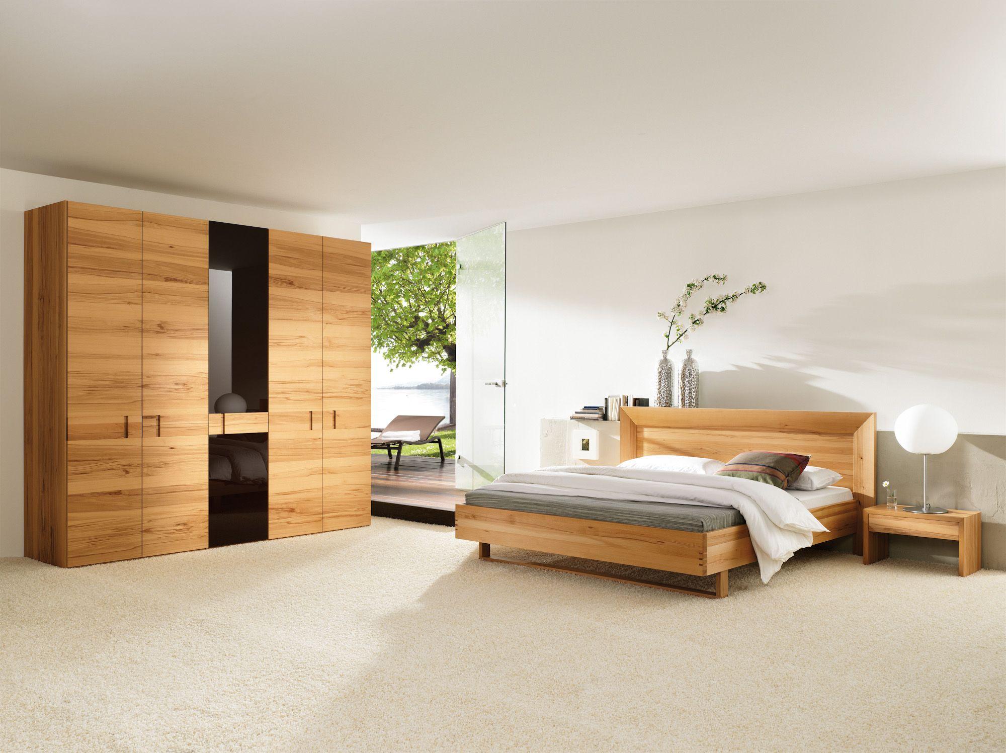 Kleiderschrank Modern Design schlafzimmer kleiderschrank doppelbett nachttische kernbuche