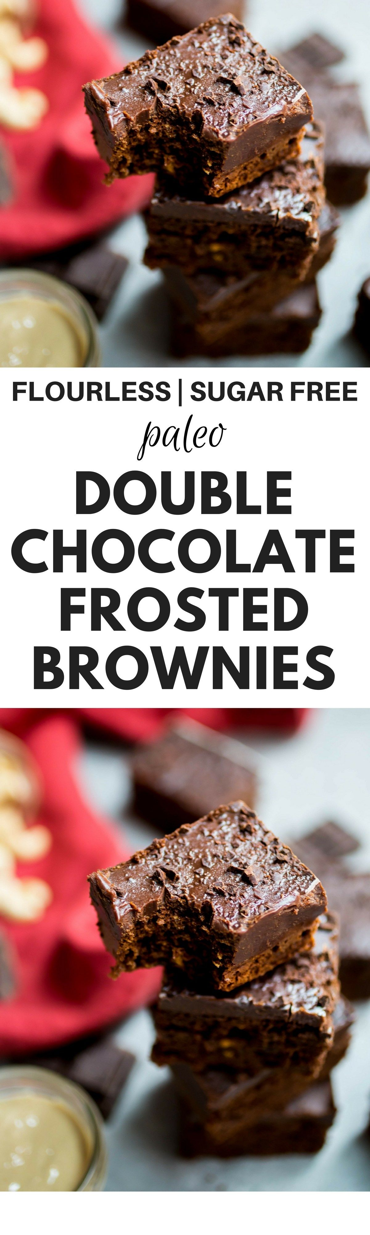 Flourless Double Chocolate Brownies Recipe Easy and quick paleo brownie recipe Healthy gluten