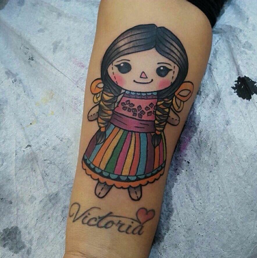 Muñequita Mexicana Bien Linda Tattoos Pinterest Tatuaje