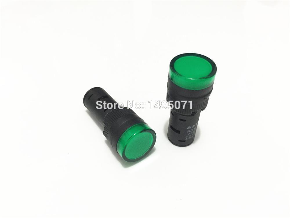10pcs Ac Dc 24v 16mm Mount Size Green Led Power Indicator Signal Light Pilot Lamp Ad16 16c Affiliate Green Led Led Lamp