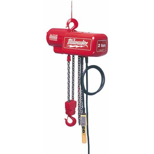 2 Ton Electric Chain Hoist Milwaukee Tool Com Imagens Tom Ferramentas
