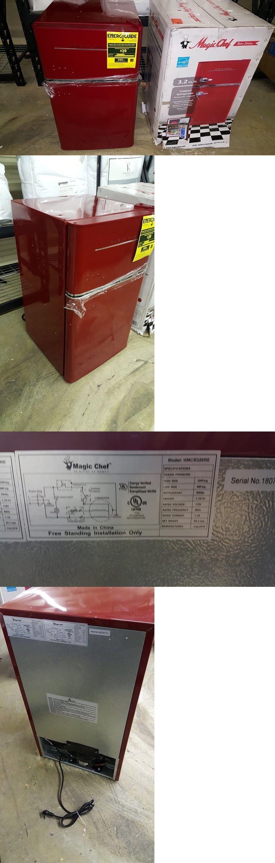08e1aeb1ba0 Mini Fridges 71262  Magic Chef Retro 3.2 Cu. Ft. 2 Door Mini Refrigerator  In Red -  BUY IT NOW ONLY   174.99 on  eBay  fridges  magic  retro   refrigerator