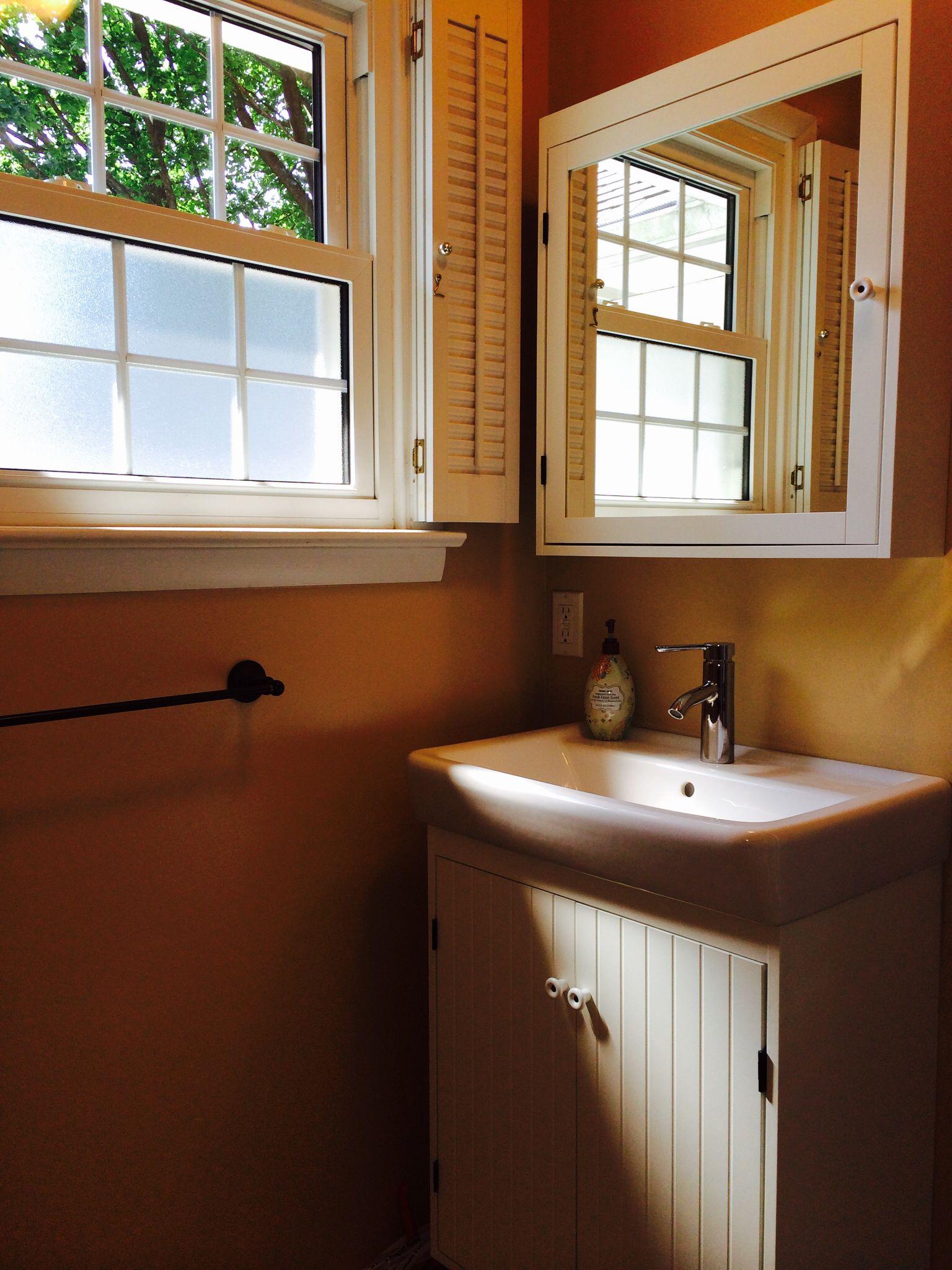 Ikea bathroom Hamnviken sink Silveran sink cabinet Dalskar faucet & Silveran mirror cabinet
