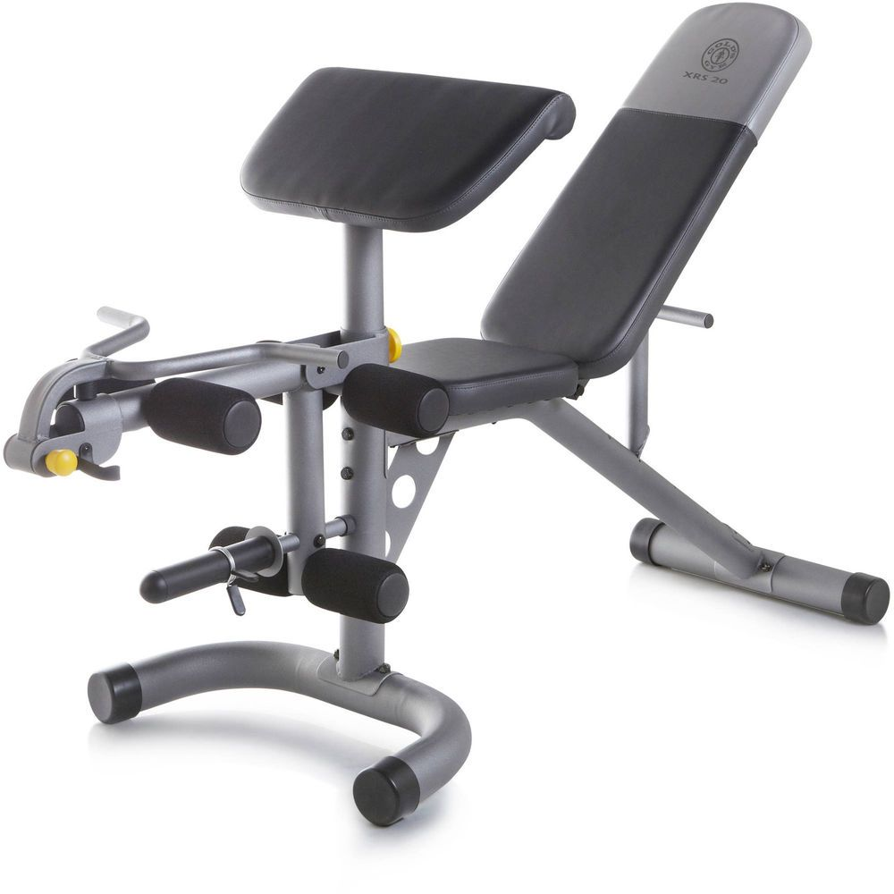 New Golds Gym Olympic Utility Bench Weight Home Gym Total Body Workout Set Homegym Adjustable Workout Bench Weight Benches Home Gym Exercises