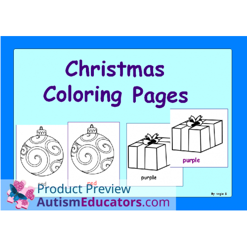 FREE Winter and Christmas Coloring Worksheets | Autism Educators ...