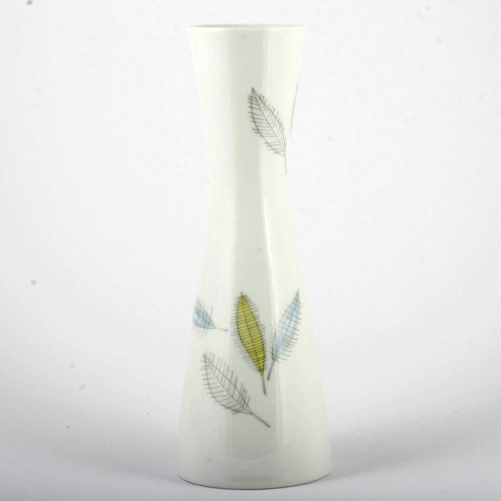 Rosenthal China Vase Bunte Blatter Colored Leaves Vintage Mid Century Modern