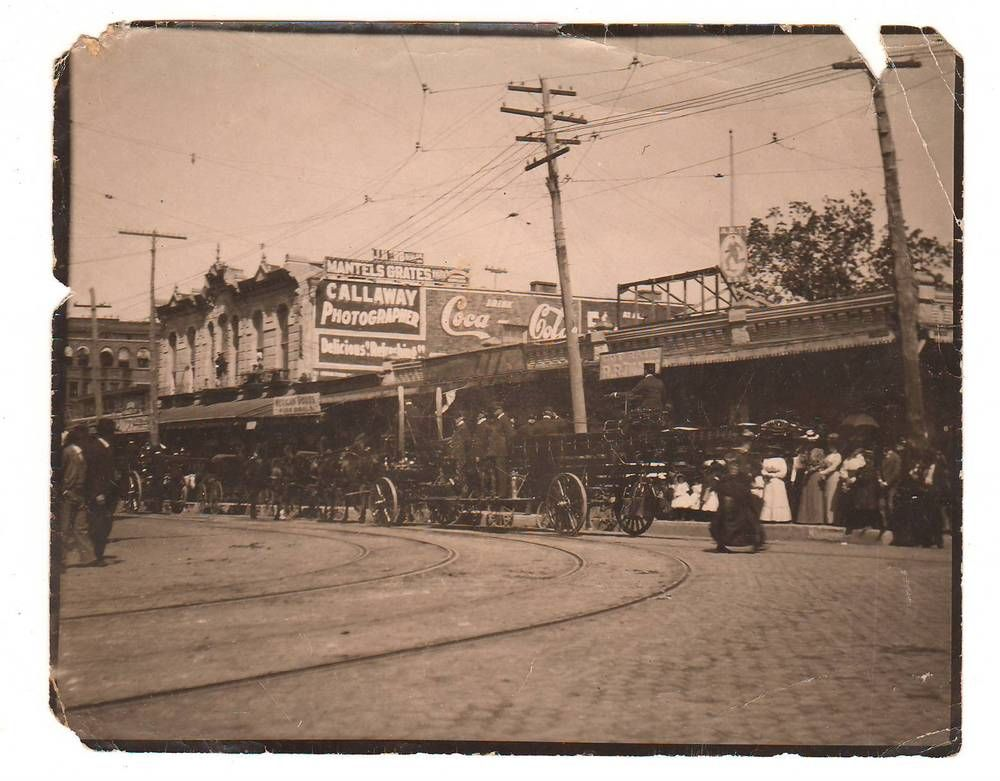 Details About 1890s San Antonio Texas Parade Photo Alamo