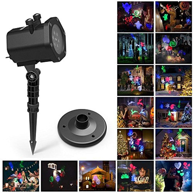 Christmas Projector Light Laser Lights 15 Patterns Interchangeable