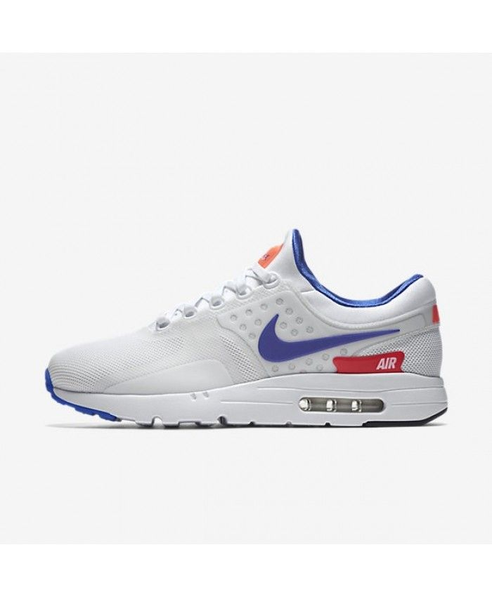sports shoes d3a72 d3e1e Nike Air Max Zero Unisex White Solar Red Black Ultramarine Trainers
