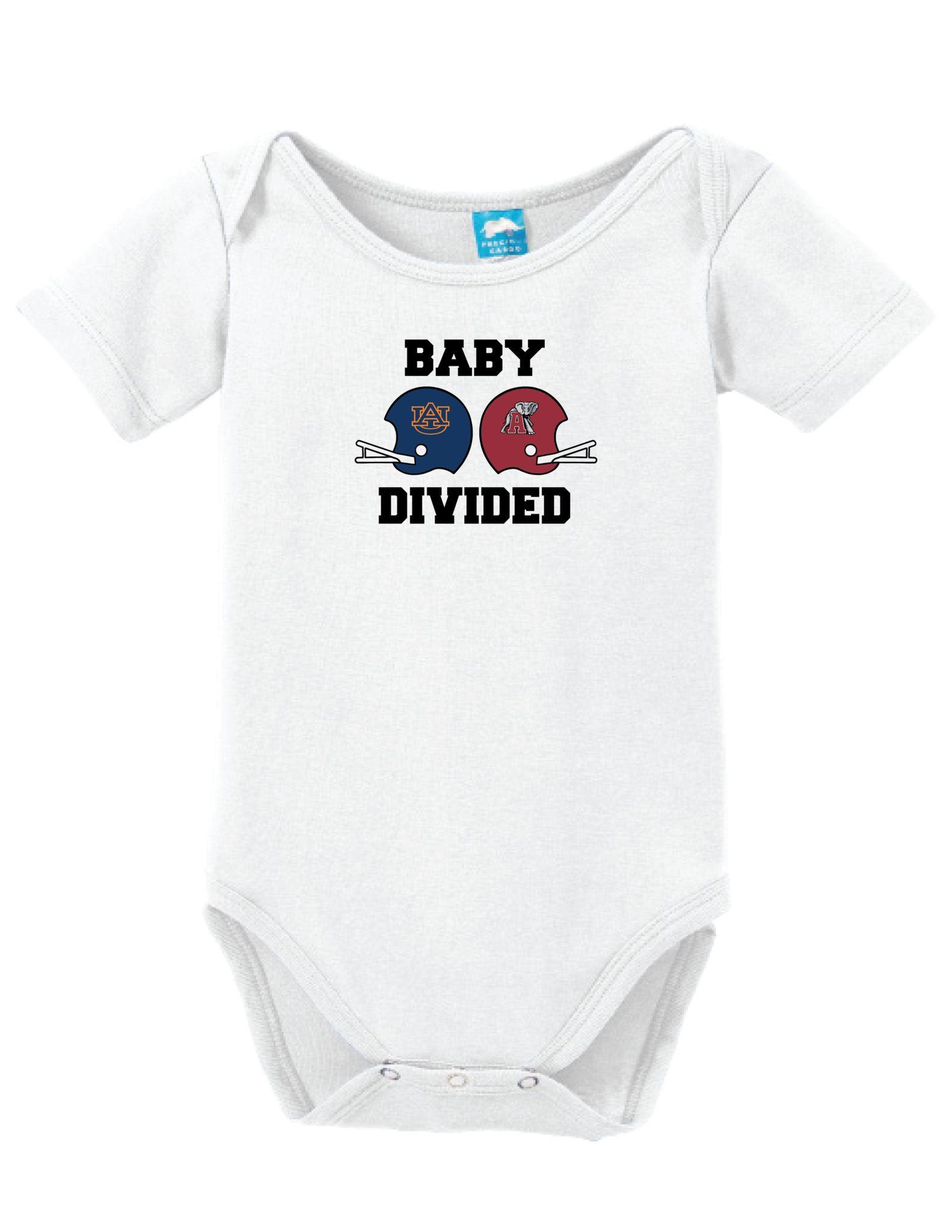 Auburn vs Alabama Baby Divided esie