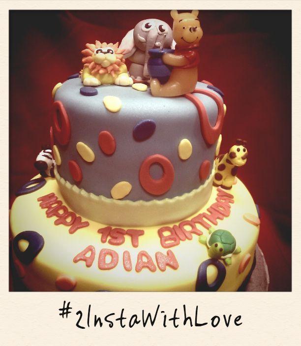 Animal 1st birthday cake by MyCakes Snoqualmie