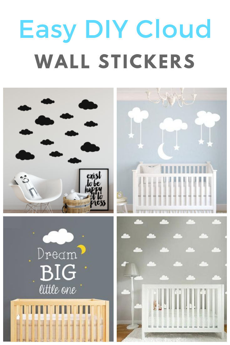 Super Easy To Do Cloud Wall Stickers Nursery Wall Art Cloud Nursery Decor Cloud Baby Room Decor D Baby Boy Room Decor Baby Room Wall Decor Baby Room Wall