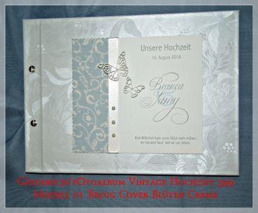 CreativDS Gästebuch Hochzeit Vintage Blütenbezug GB 399
