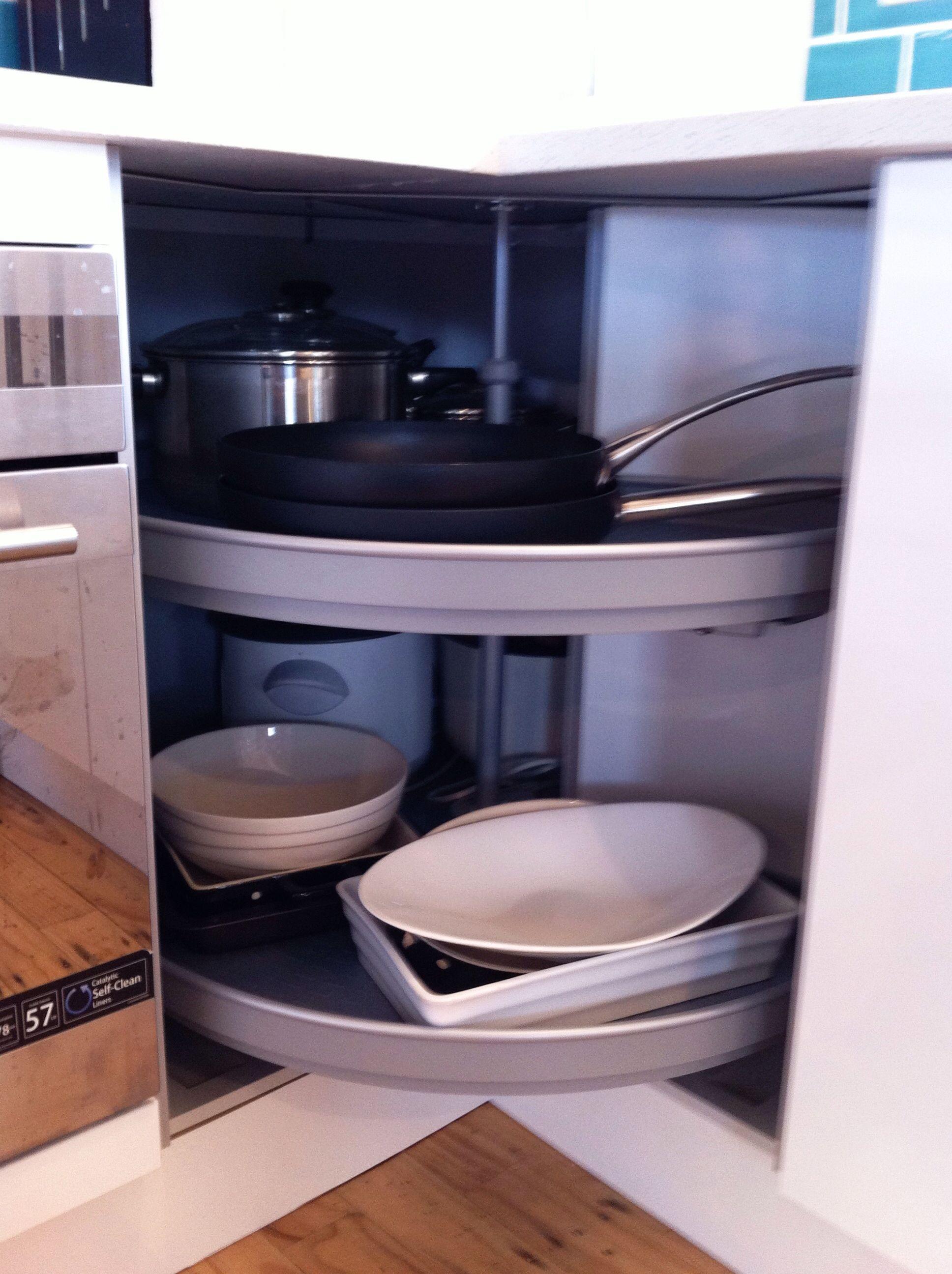 Our Hafele mondo unit fantastic corner storage solution