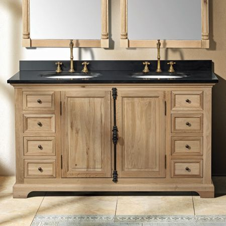 camden 59-in double vanity (natural oak) from Thos Baker Bathroom