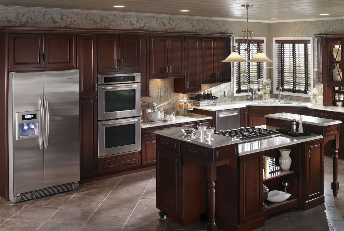 double wall oven and cook top range