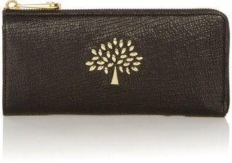 21219a15e812 Mulberry Black Mila Slim Zip Wallet