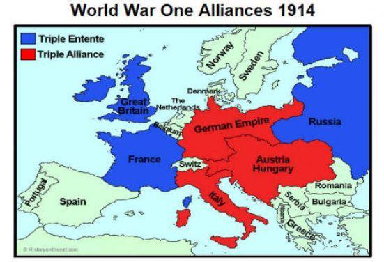 Map of world war 1 alliances2g 551376 world war one map of world war 1 alliances2g 551 gumiabroncs Gallery