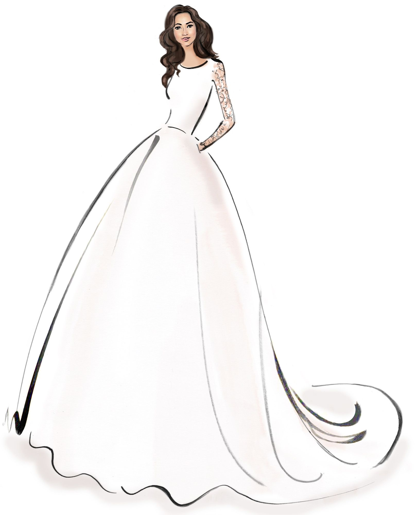 Dreaming about wearing a wedding dress  Events by Gia says hereus a sketch of a possible Wedding Dream Dress