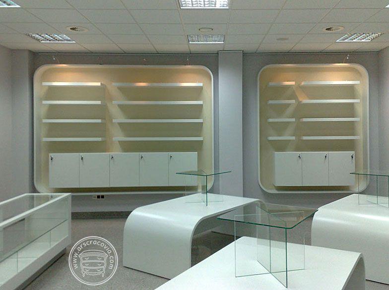 Sklep Z Ceramika Meble Sklepowe Wykonane Z Lakierowanego Mdf Korpusy Szaf Ekspozycyjnych I Stolow Wykonane Z Gietego I Lakierowanego Mdf Bathtub Bathroom