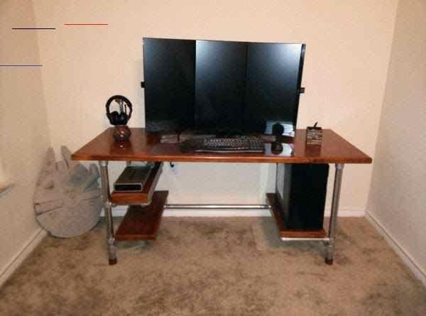 Pin On G Stuff Gaming Desks Gaming Diy Computer Desk Custom Desk My Gaming Desk Only Cost 100 Build Your Own In 2020 Diy Computer Desk Gaming Desk Computer Desk