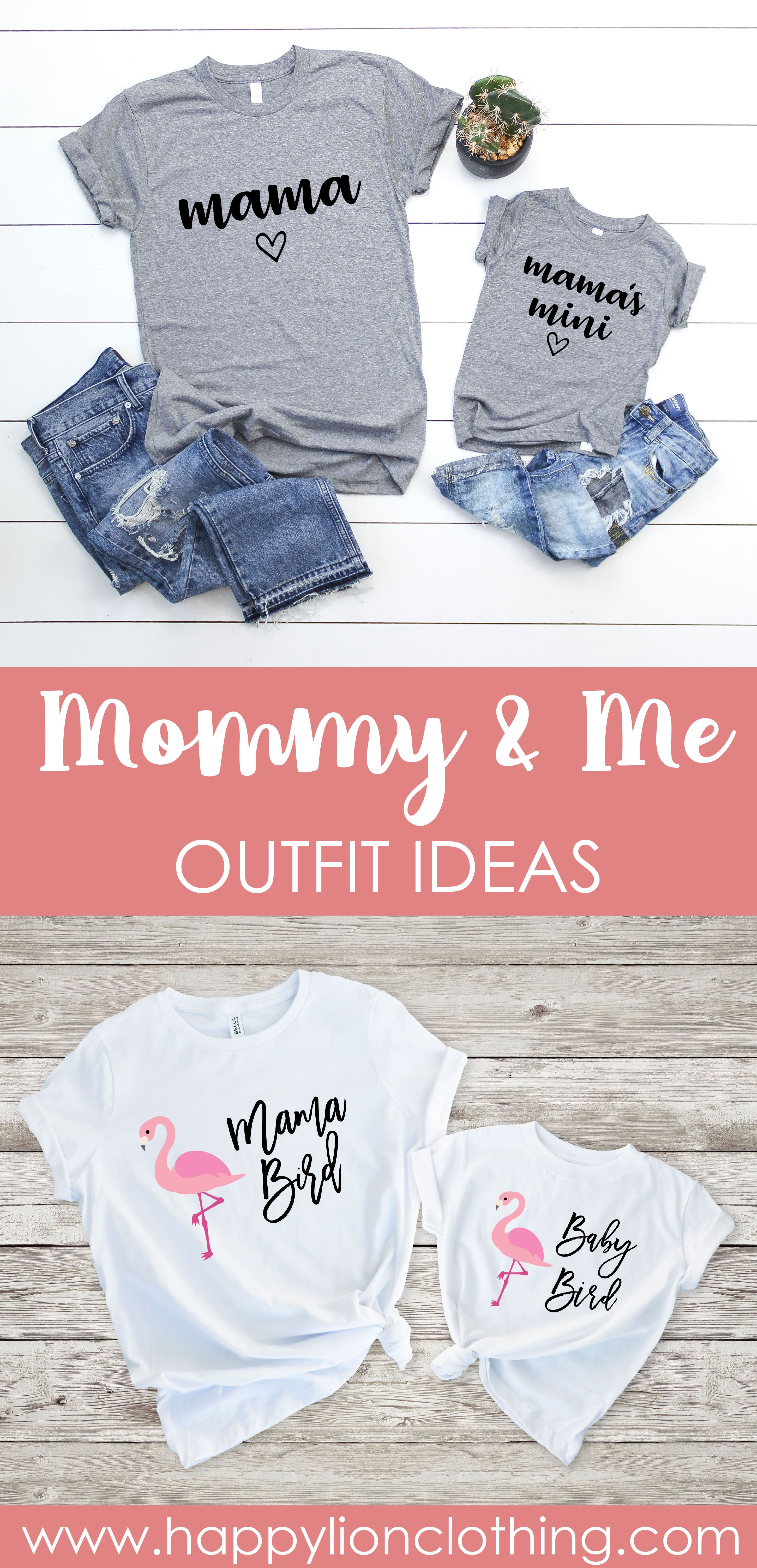 Our First Mothers Day Matching Mother and Daughter Shirts  Mommy and Me T-Shirts  Cute Woman and Toddler Graphic Designed Tee Shirts