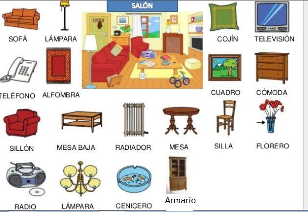 Muebles salon la casa las tareas domesticas pinterest for Como se dice cocina en ingles