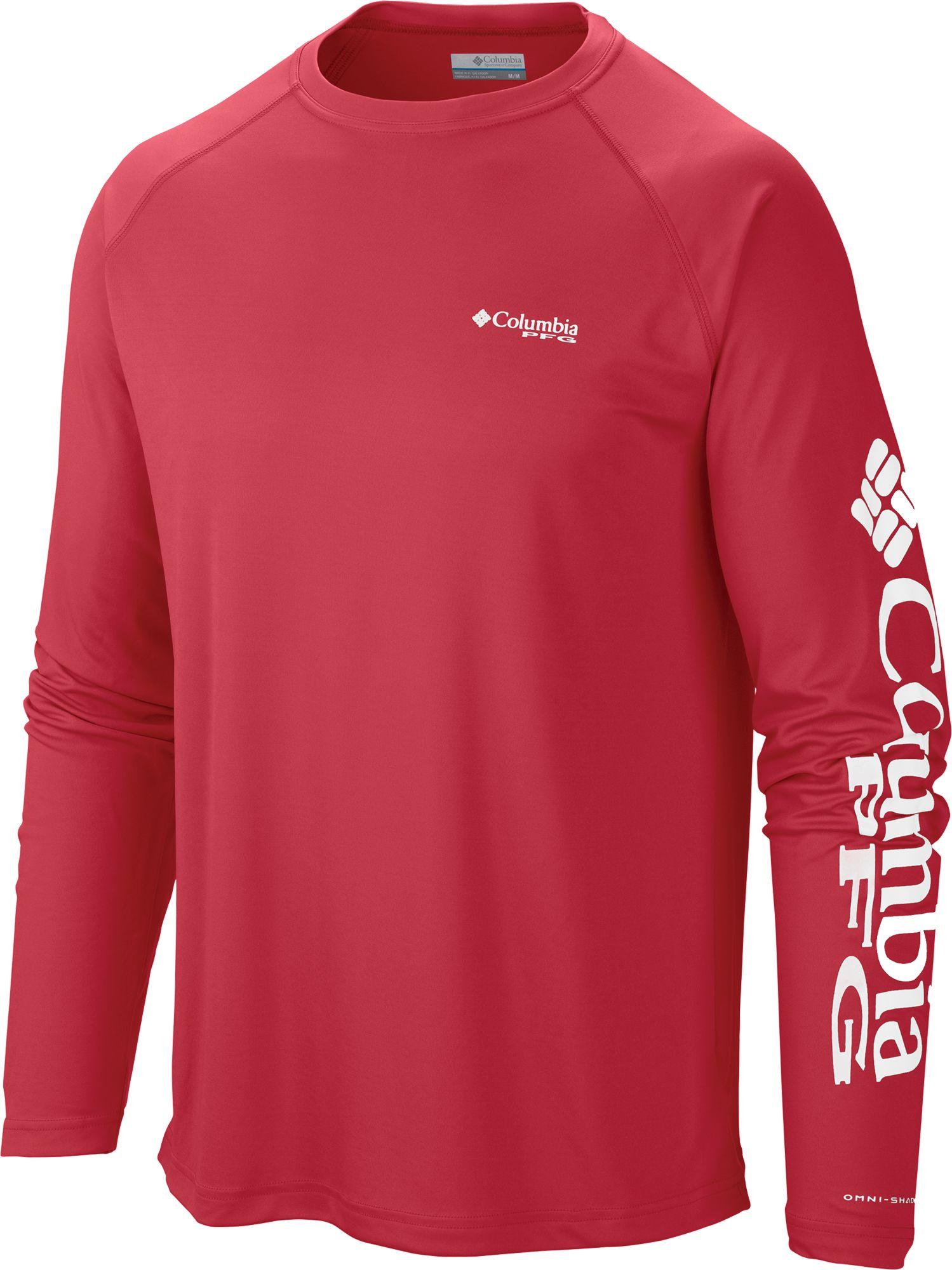 942d9700 Columbia Men's PFG Terminal Tackle Long Sleeve Shirt, Size: 1XL, Red