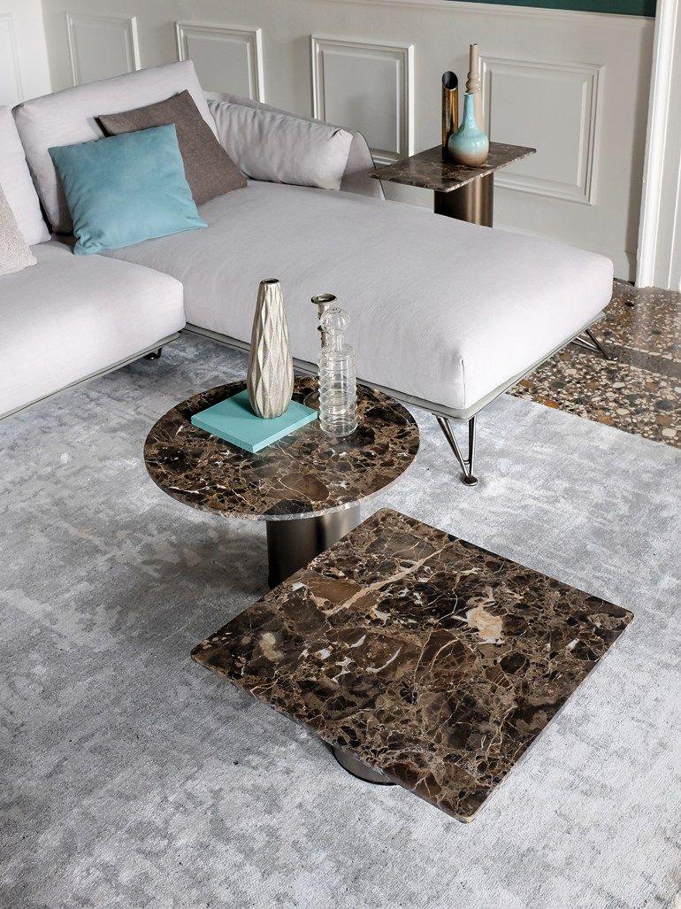 Square marble coffee table PETRA arketipofirenze