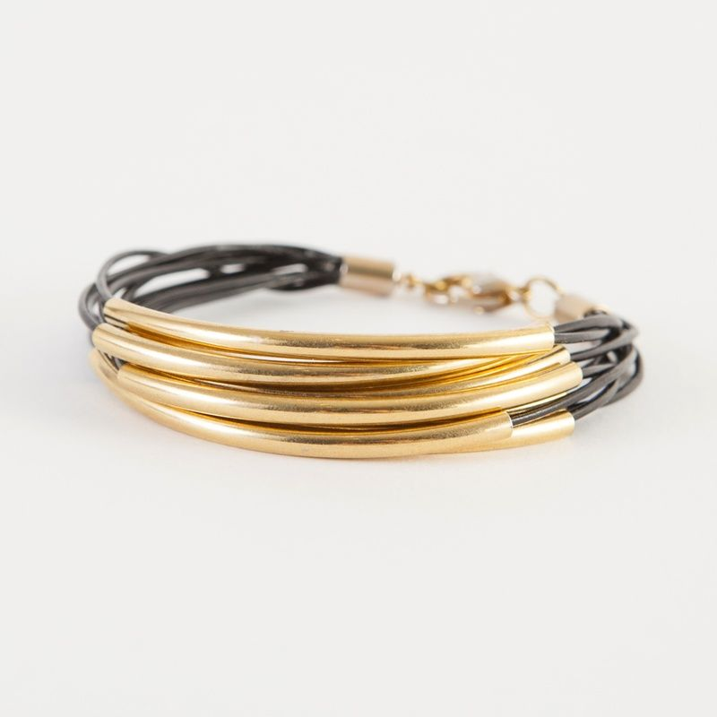 "Don't forget! Get 20% off this layered leather bracelet kit with the code ""PINMIDAS"". #goldrush go.brit.co/1naUpEV"