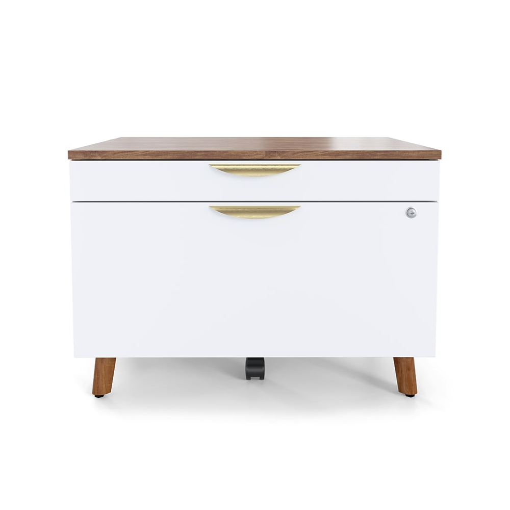 Midmod 2 Drawer Lateral File Cabinet Locking Letter Legal White Espresso 29 Un56967 At Staples In 2020 Filing Cabinet Lateral File Cabinet Home Office Filing Cabinet