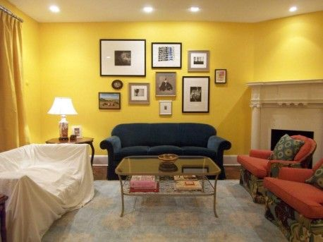 Yellow wall living room | Decorating A Yellow Living Room | Living ...