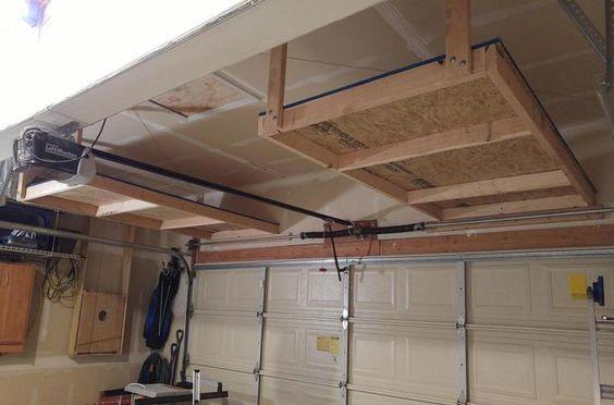 Bon #1 Above Garage Door Storage Shelves