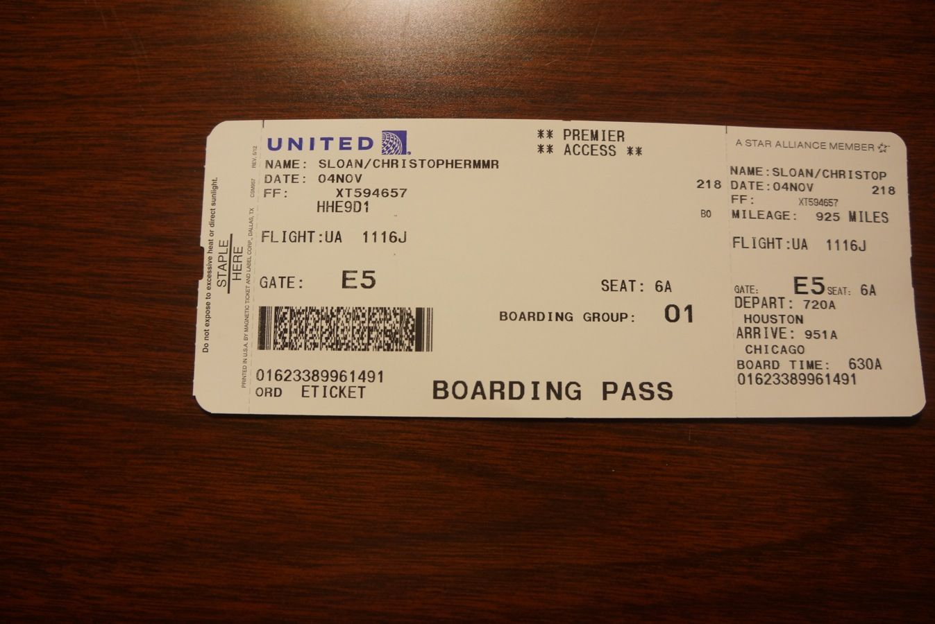 002 united 787 inaugural boarding pass
