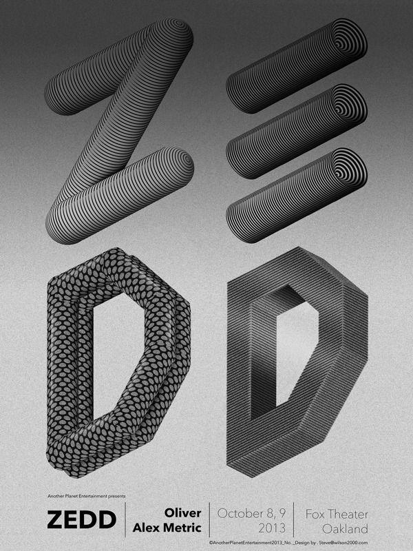 ZEDD poster by steven wilson, via Behance