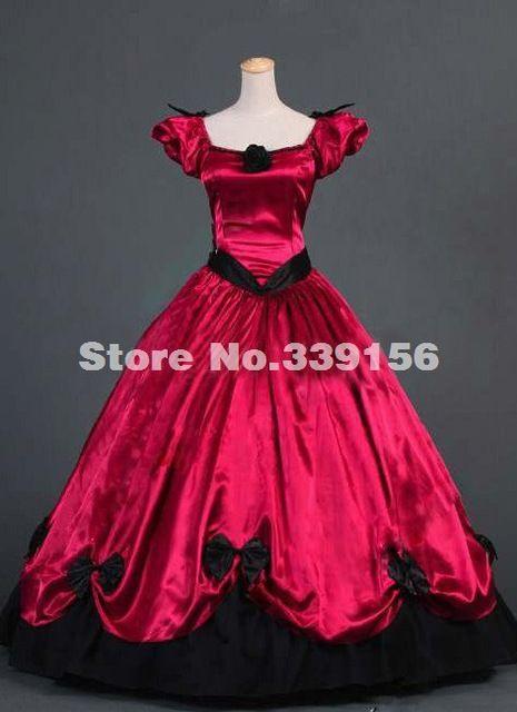 Brand New Noble manga corta roja renacimiento victoriano vestido ...