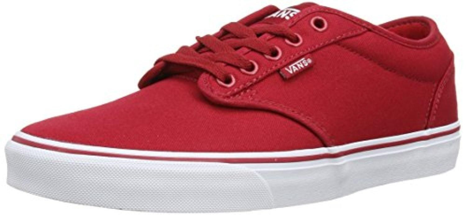 bb92e6bfdd Vans Men s Atwood (Canvas) Red White Skate Shoe 9.5 Men US - Brought to you  by Avarsha.com