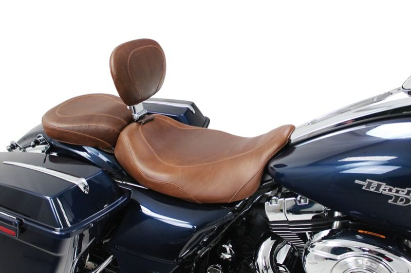 Brown Motorcycles Mustang Motorcycle Seats Wide Tripper - Vinyl for motorcycle seat
