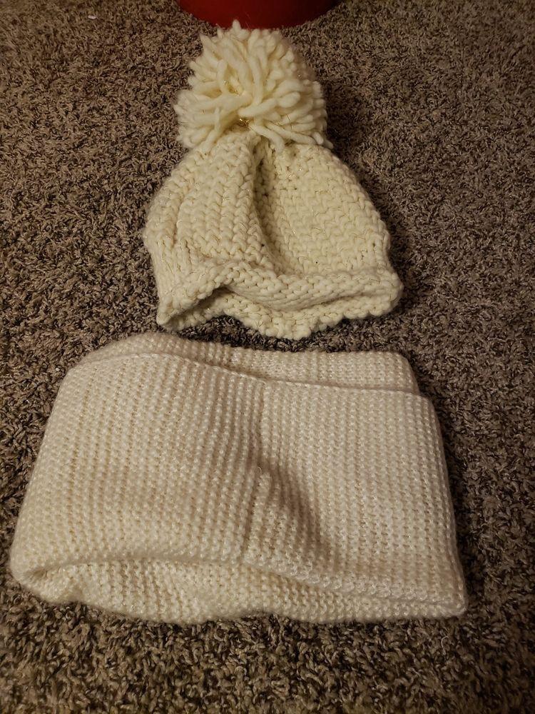 0568d4dffb8 US Snow Beanie PomPom Hat Women Thick Warm Soft Cable Scarf Winter Knit  2pcs Set  fashion  clothing  shoes  accessories  womensaccessories   scarveswraps ...