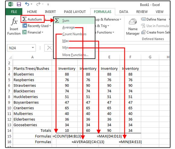 AutoSum in Excel excel tips Pinterest Microsoft