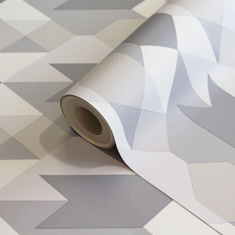 Coloroll Copenhagen Geometric Wallpaper In Grey Geometric
