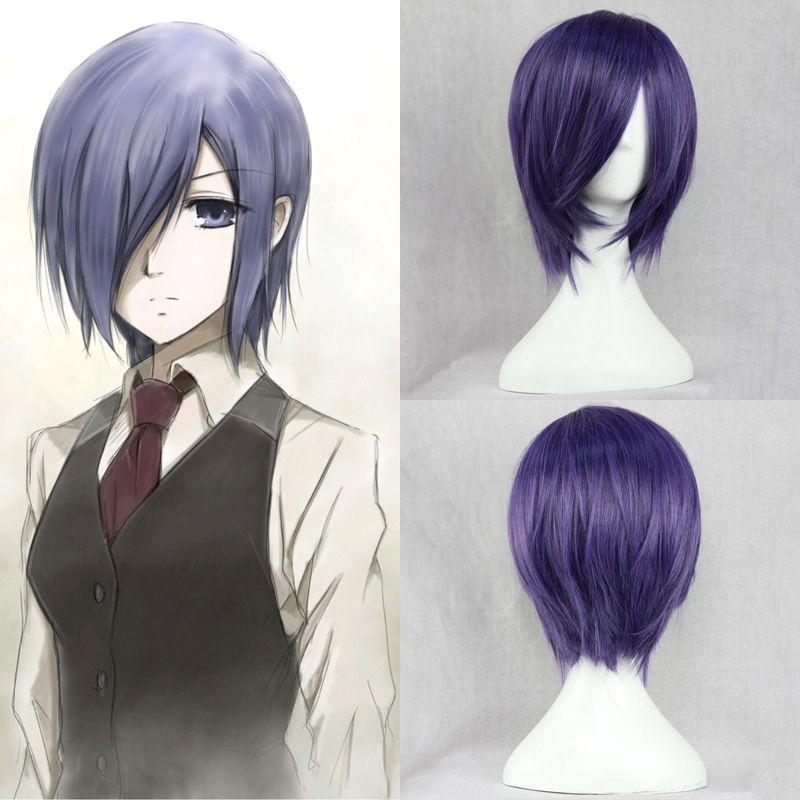 Free-Shipping-Tokyo-Ghoul-Touka-kirishima-Cosplay-Wig-Blue-purple - free bol