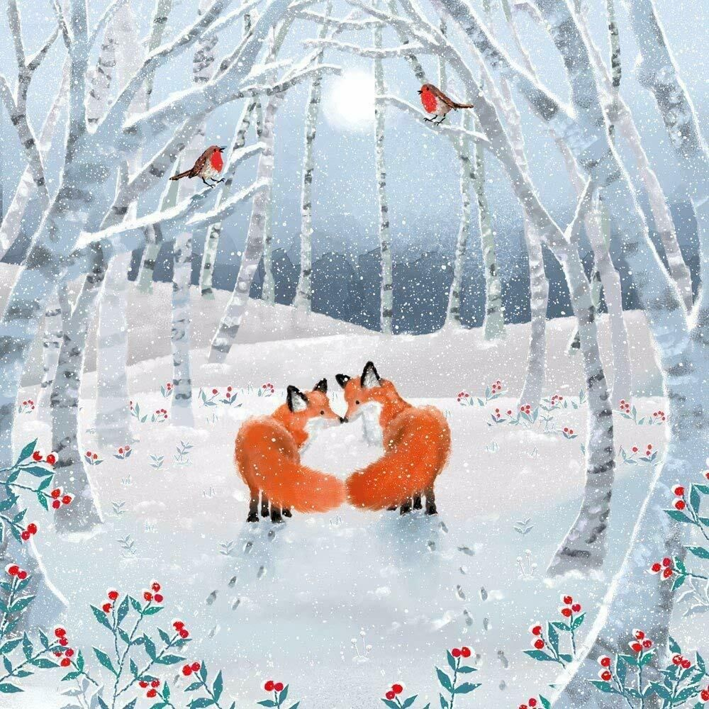 Xmas Playful Foxes Charity Christmas Cards Pack